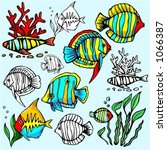 a set of 6 vector illustrations ...   Shutterstock .eps vector #1066387