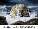 bitcoin crisis crypto coin... | Shutterstock . vector #1066387436