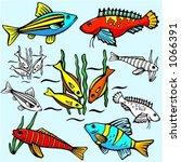 a set of 5 vector illustrations ...   Shutterstock .eps vector #1066391