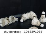 the shuttlecock on dark... | Shutterstock . vector #1066391096