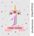 vector illustration with number ... | Shutterstock .eps vector #1066393310