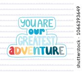"hand lettering phrase ""you are... 