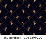 art deco seamless pattern with... | Shutterstock .eps vector #1066399220