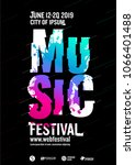 music poster design template.... | Shutterstock .eps vector #1066401488