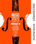 poster idea for music event ... | Shutterstock .eps vector #1066401500