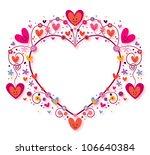 heart frame - stock photo