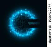 modern blue dots technology... | Shutterstock .eps vector #1066412279