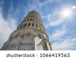 leaning tower of pisa  italy ... | Shutterstock . vector #1066419563