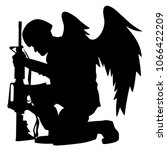 military angel soldier with... | Shutterstock .eps vector #1066422209