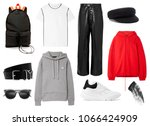 a set of fashionable clothes... | Shutterstock . vector #1066424909