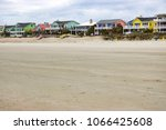 colorful beach houses on the...   Shutterstock . vector #1066425608