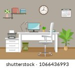 office interior design with...   Shutterstock .eps vector #1066436993