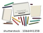 drawing isolated objects paper...   Shutterstock .eps vector #1066441358