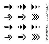 simple arrow flat set. spiked...