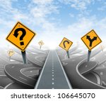 questions and clear strategy... | Shutterstock . vector #106645070