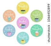 vector multicolored stickers... | Shutterstock .eps vector #1066452899