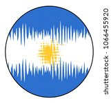 round design with argentina... | Shutterstock . vector #1066455920