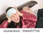 portrait of irritated woman... | Shutterstock . vector #1066457720