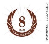 8 years anniversary. elegant... | Shutterstock .eps vector #1066462310