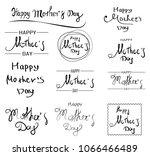 set of vector greeting card... | Shutterstock .eps vector #1066466489