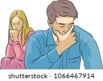 husband and wife | Shutterstock .eps vector #1066467914
