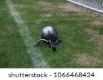 closeup view of iron ball on... | Shutterstock . vector #1066468424
