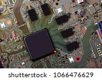 electronic circuit board close... | Shutterstock . vector #1066476629