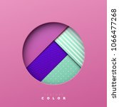 colorful abstract geometric...   Shutterstock .eps vector #1066477268