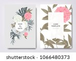 botanical wedding invitation... | Shutterstock .eps vector #1066480373