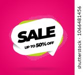 sale banner template design ... | Shutterstock .eps vector #1066481456