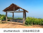 Small Bamboo Hut On The Top Of...