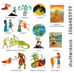 greek myths mythology tales   Shutterstock .eps vector #1066485959