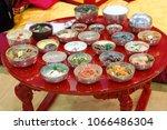 korean royal table  surasang  | Shutterstock . vector #1066486304