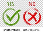 yes and no acceptance and... | Shutterstock .eps vector #1066488848