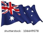 flag of australia | Shutterstock . vector #106649078