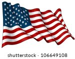 flag of usa | Shutterstock . vector #106649108