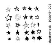 hand drawn star doodle | Shutterstock .eps vector #1066494206
