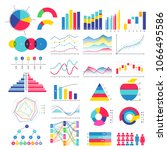 colorful graphs and charts... | Shutterstock .eps vector #1066495586