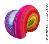 color brushstroke oil or... | Shutterstock . vector #1066495700