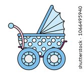 color baby stroller relax... | Shutterstock .eps vector #1066495940