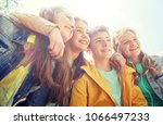 friendship and people concept   ... | Shutterstock . vector #1066497233