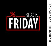black friday vector template... | Shutterstock .eps vector #1066497404
