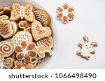 gingerbread cookies in the... | Shutterstock . vector #1066498490