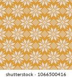christmas seamless knitted... | Shutterstock .eps vector #1066500416