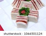 delicious strawberry sandwich | Shutterstock . vector #1066501124