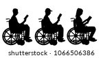 silhouette vector disabled man... | Shutterstock .eps vector #1066506386