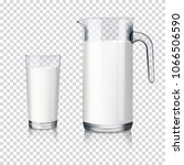 glass jug and drinking glass... | Shutterstock .eps vector #1066506590