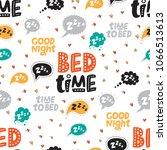 seamless pattern with speech... | Shutterstock .eps vector #1066513613