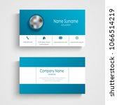 business card in white blue... | Shutterstock .eps vector #1066514219