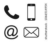 contact icons. communication... | Shutterstock .eps vector #1066514954